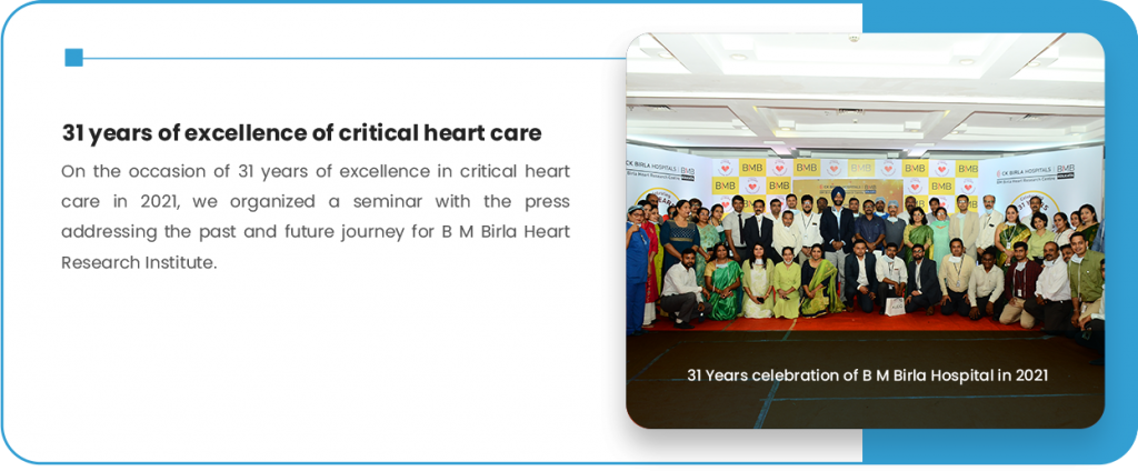 31 years of excellence of critical heart care