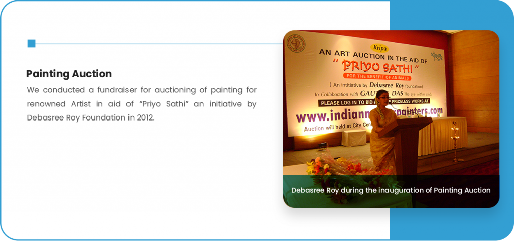 Debasree Roy during the inauguration of Painting Auction
