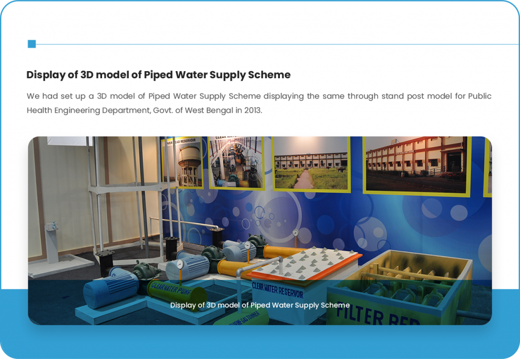 Display of 3D model of Piped Water Supply Scheme