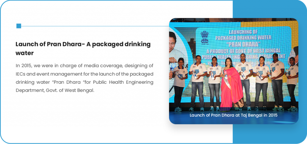 Launch of Pran Dhara A packaged drinking water