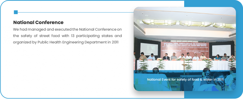 National Event for safety of food & water in 2011