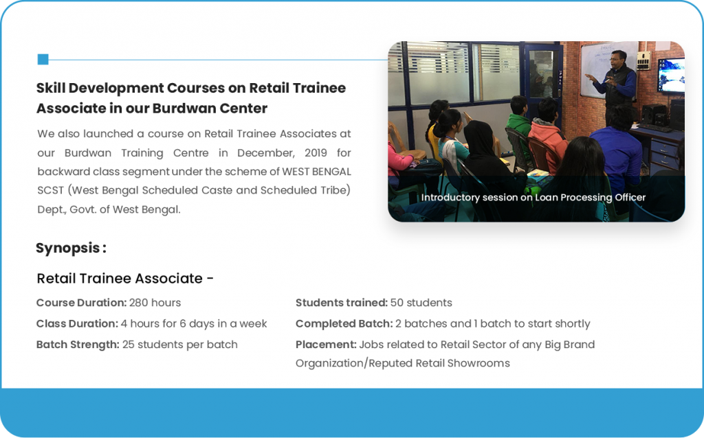 Skill Development Courses on Retail Trainee Associate in our Burdwan Center (4)