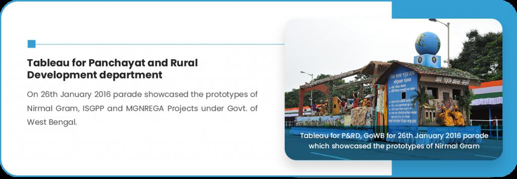 Tableau for Panchayat and Rural Development department
